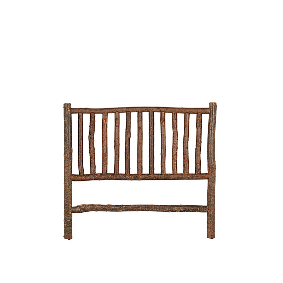 Rustic Headboard Queen #4030 shown in Natural Finish (on Bark)