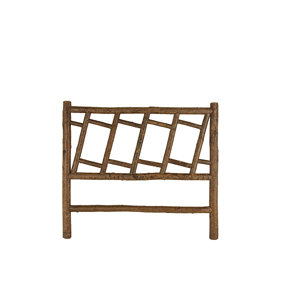 Rustic Headboard Queen #4191 (Shown in Natural Finish on Bark)