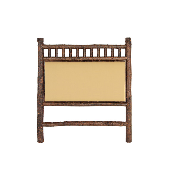 Rustic Headboard Queen #4251 shown in Natural Finish (on Bark)