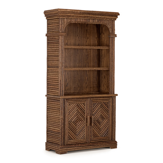 Rustic Hutch #2041 shown in Natural Finish (on Bark)