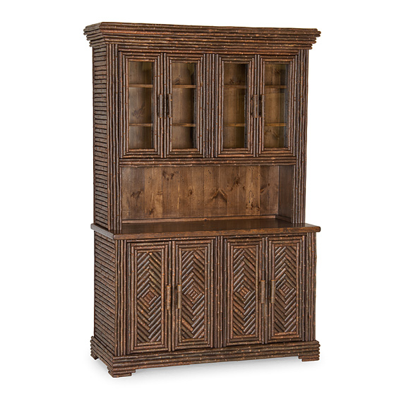 Rustic Hutch #2043 shown in Natural Finish (on Bark)