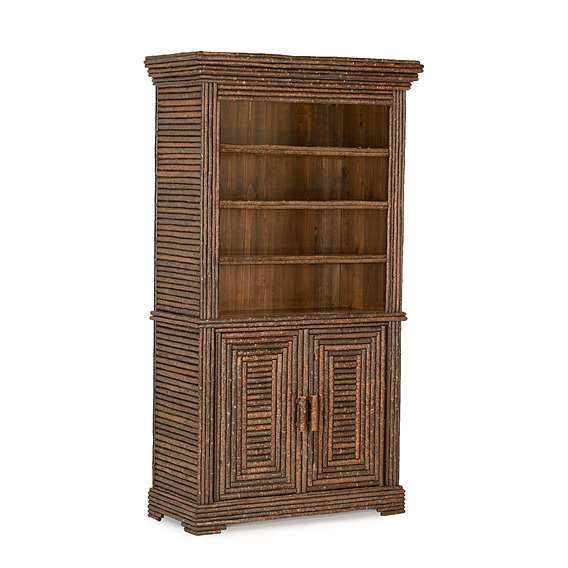 Rustic Open Hutch #2068 shown in Natural Finish (on Bark)