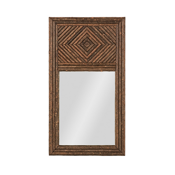 Rustic Mirror #5035 shown in Natural Finish (on Bark)