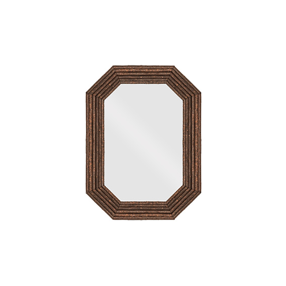 Rustic Mirror #5040 shown in Natural Finish (on Bark)