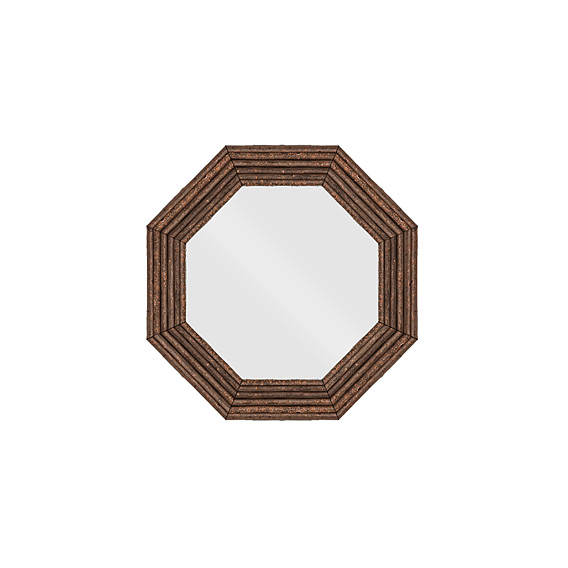 Rustic Mirror #5045 shown in Natural Finish (on Bark)