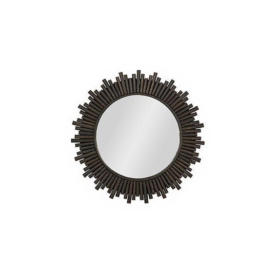Rustic Mirror #5052 (Shown in Ebony Finish)