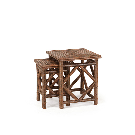 Set of Two Nesting Tables with Willow Tops #3424 (Shown in Natural Finish)