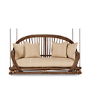 Porch Swing #1091 shown in Natural Finish (on Bark) La Lune Collection