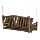 Porch Swing #1233 shown in Kahlua Premium Finish (on Peeled Bark) La Lune Collection