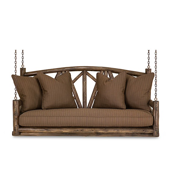 Rustic Porch Swing #1558 (shown in Kahlua Finish)