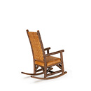 Rocker with Woven Leather Back #1188 shown in Natural Finish (on Bark) La Lune Collection