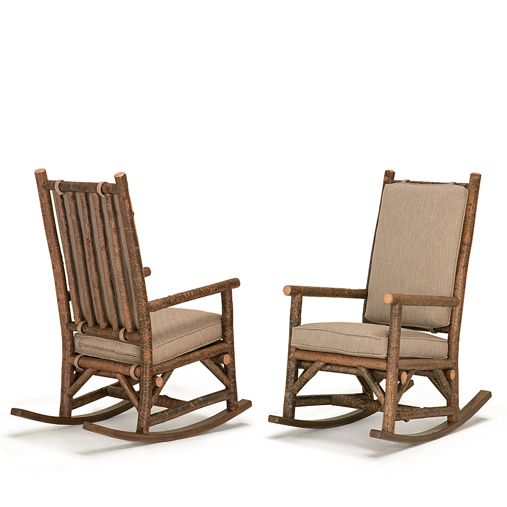 ... Seat Rustic Rocking Chair With Tie On Back Pad #1189 (Shown In Natural  Finish ...
