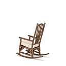 Rocker #1190 with Optional Loose Seat Cushion shown in Kahlua Premium Finish (on Peeled Bark) La Lune Collection