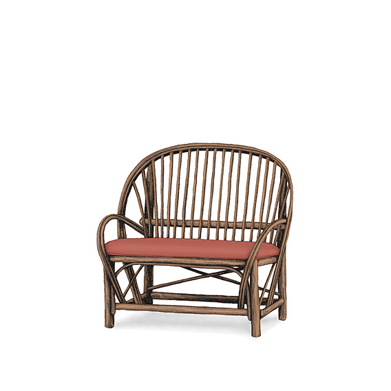 Rustic Settee #1038 shown in Natural Finish (on Bark)