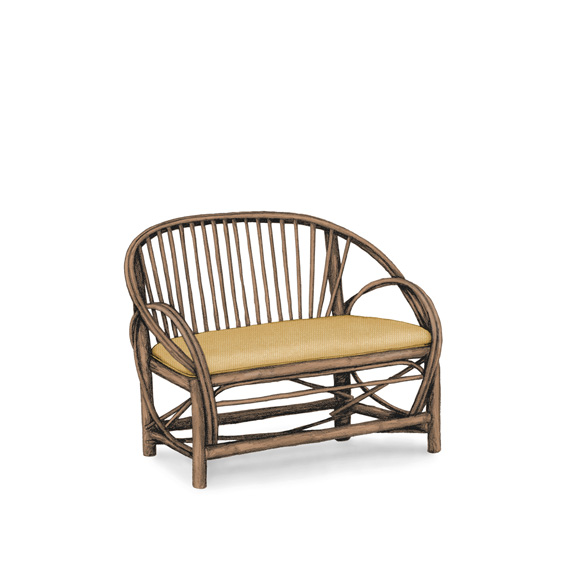 Rustic Settee #1050 shown in Natural Finish (on Bark)