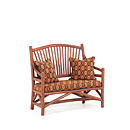Settee #1150 shown in Redwood Premium Finish (on Bark) La Lune Collection