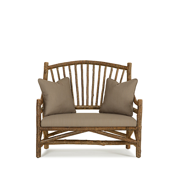 Rustic Settee #1150 shown in Natural Finish (on Bark)