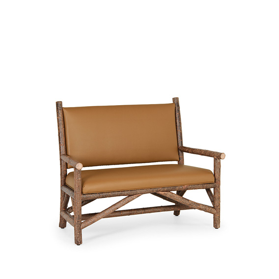 Rustic Settee #1158 shown in Natural Finish (on Bark)