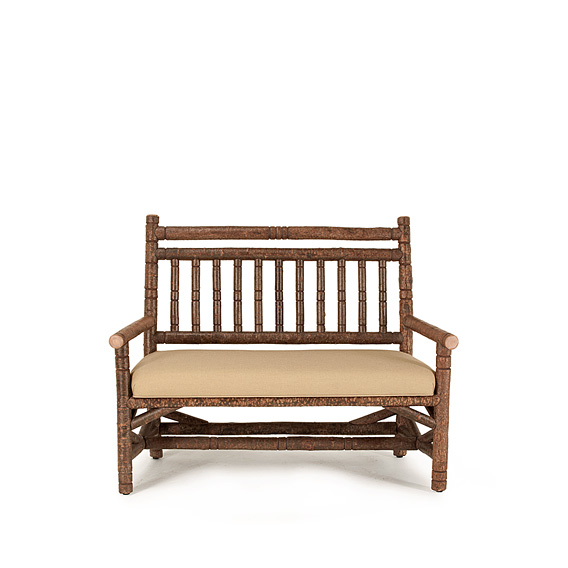 Rustic Settee #1201 shown in Natural Finish (on Bark)
