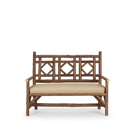Rustic Settee #1292 shown in Natural Finish (on Bark)