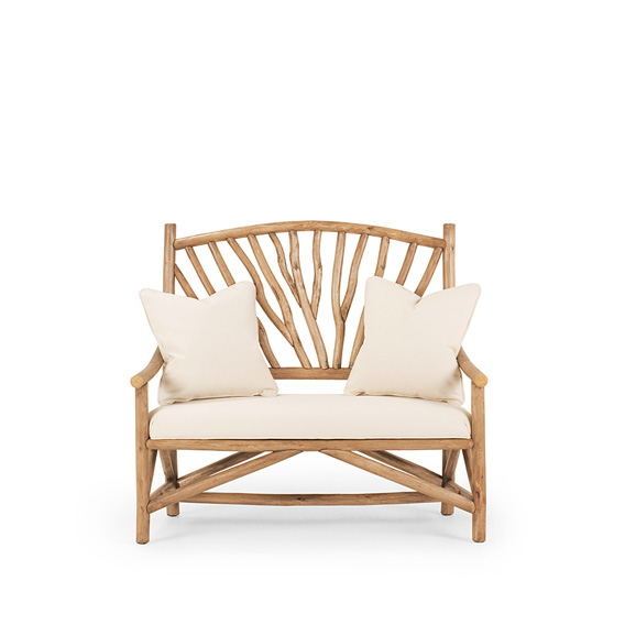 Settee #1404 shown in Pecan Premium Finish (on Peeled Bark)
