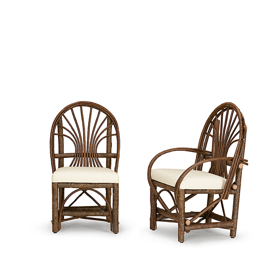Rustic Dining Side Chair #1064 & Dining Arm Chair #1066 (Shown in Natural Finish)