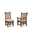 Side Chair #1204 & Arm Chair #1206 w/Optional Loose Seat Cushions shown in Kahlua Finish (on Peeled Bark) La Lune Collection