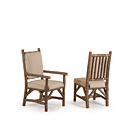 Arm Chair #1206 & Side Chair #1204 w/Optional Loose Tie-On Back Pad shown in Natural Finish (on Bark) La Lune Collection