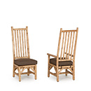 Side Chair #1212 & Arm Chair #1214 shown in Pecan Premium Finish (on Peeled Bark) La Lune Collection