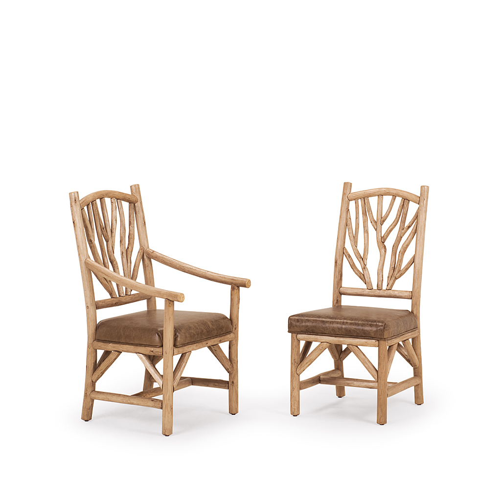 Rustic Dining Arm Chair #1402 U0026 Dining Side Chair #1400 Shown In Pecan  Premium