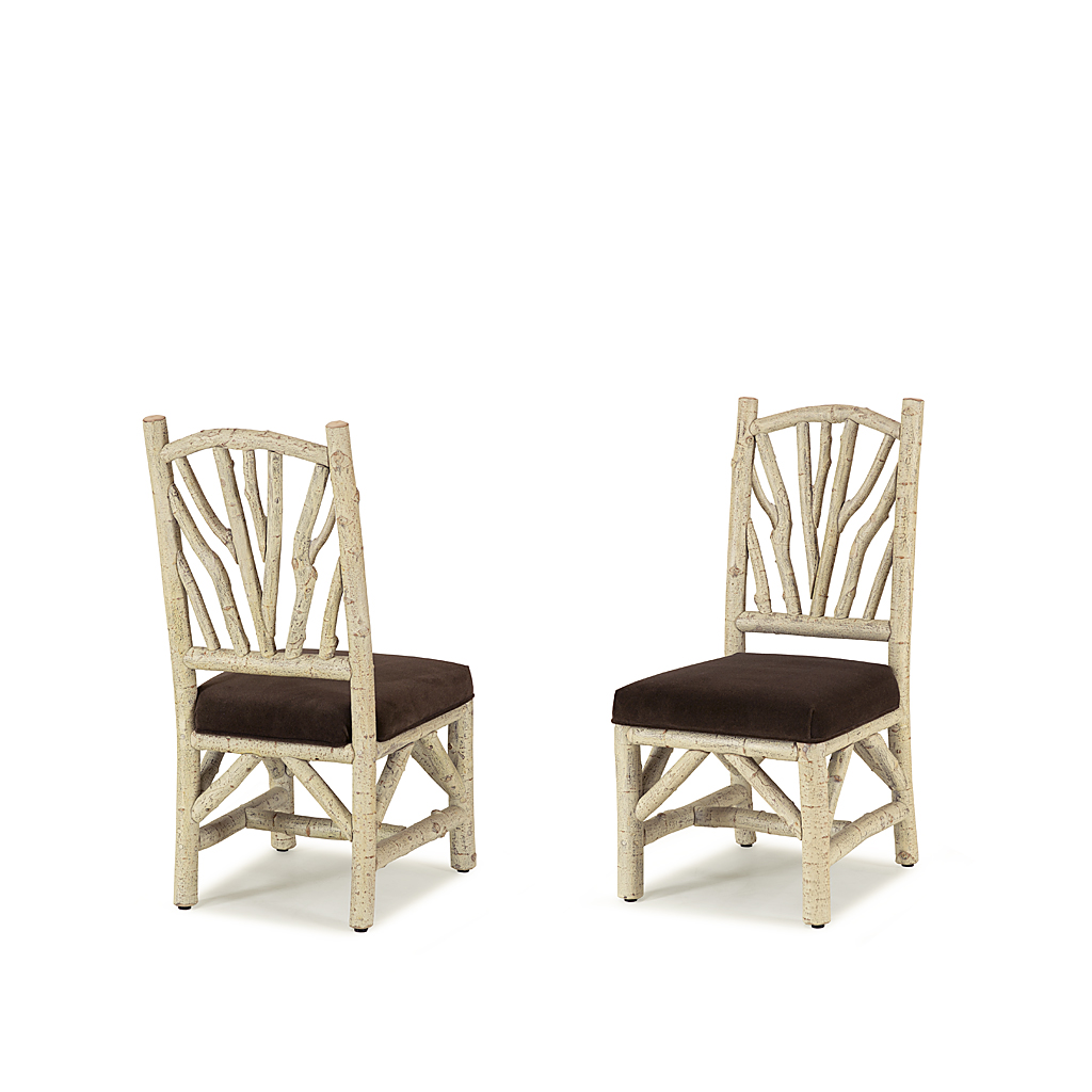 rustic dining side chair shown in navajo finish la lune collection