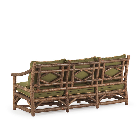 Rustic Sofa #1179 shown in Natural Finish (on Bark)