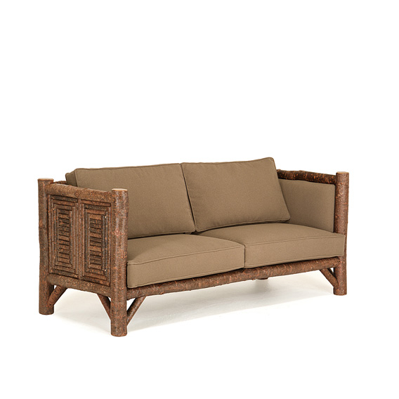 Rustic Sofa #1222 shown in Natural Finish (on Bark)