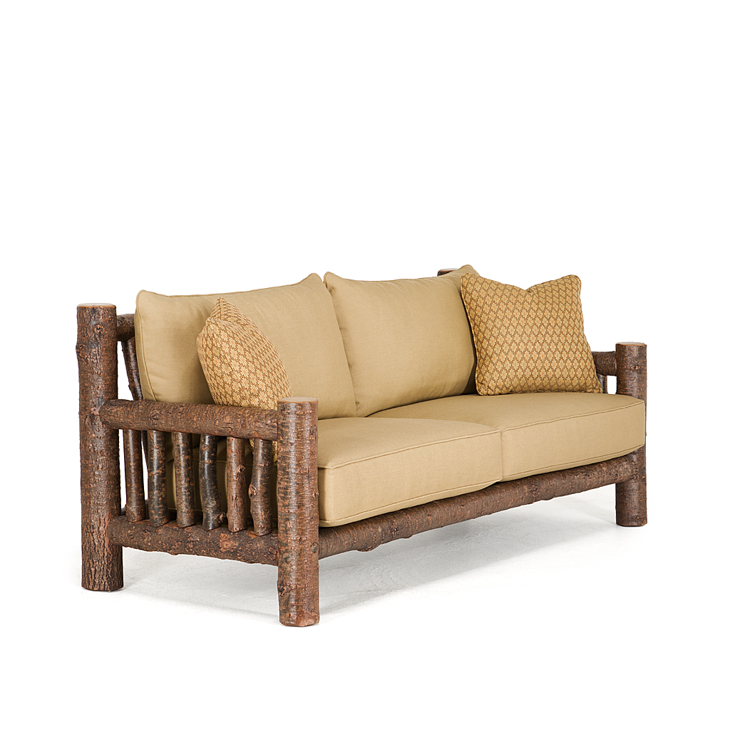 Rustic Sofa #1280 Shown In Natural Finish (on Bark)