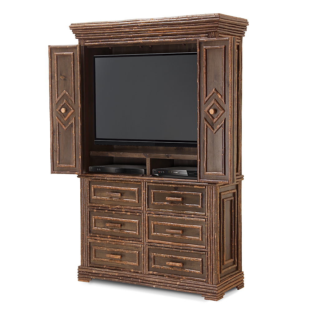 Rustic Tv Cabinet 2616 Shown In A Custom Color Dark Pine With Willow