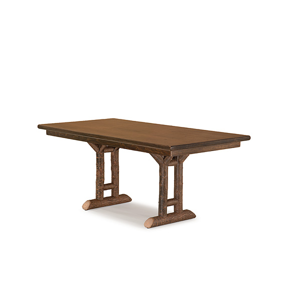 Rustic Dining Table #3052 (shown in Natural finish & Medium Pine Top)