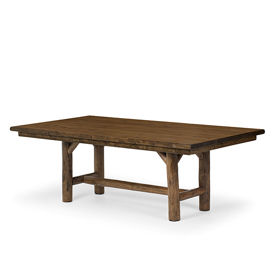 Table #3068 shown in Kahlua Premium Finish (on Peeled Bark) & Dark Pine Top