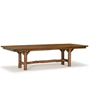 Table with Optional Medium Cedar Plank Top #3072 shown in Natural Finish (on Bark) La Lune Collection