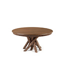 Table #3091 shown in Natural Finish (on Bark) with Medium Pine Top La Lune Collection