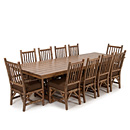Trestle Table w/Opt Cedar Top #3123 & Chairs #1204 & #1206 w/Opt Loose Cushions shown in Natural Finish (on Bark) La Lune Collection