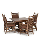 Table #3140 w/Opt Cedar Plank Top, Arm Chairs #1295 w/Opt Loose Cushions shown in Natural Finish (on Bark) La Lune Collection