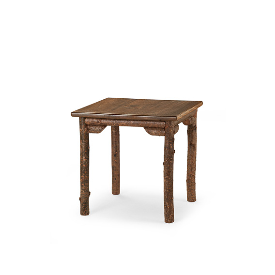 Rustic Dining Table #3189 shown in Natural Finish (on Bark) with Medium Pine Top