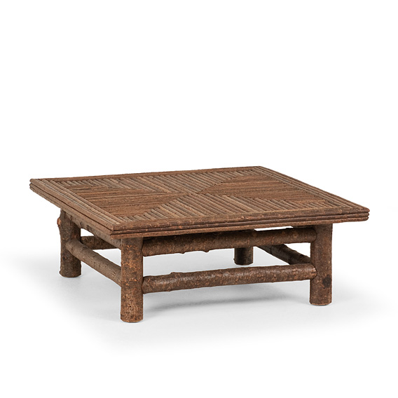 Table with Willow Top #3250 shown in Natural Finish (on Bark)