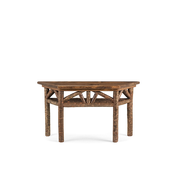 Rustic Console Table with Pine Top #3264 (shown in Natural Finish on Bark & Medium Pine Top)