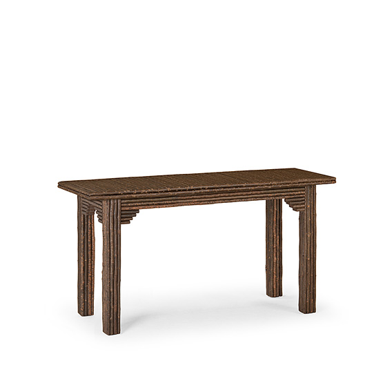 Rustic Console Table with Willow Top #3298 shown in Natural Finish (on Bark)