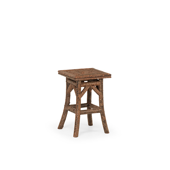Rustic Table with Willow Top #3394 shown in Natural Finish (on Bark)
