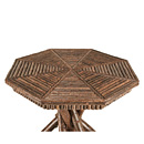Table with Willow Top #3414 shown in Natural Finish (on Bark) La Lune Collection