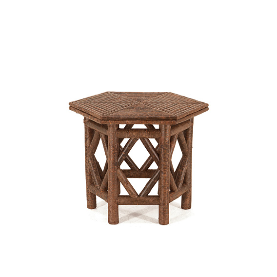 Rustic Table with Willow Top #3430 shown in Natural Finish (on Bark)