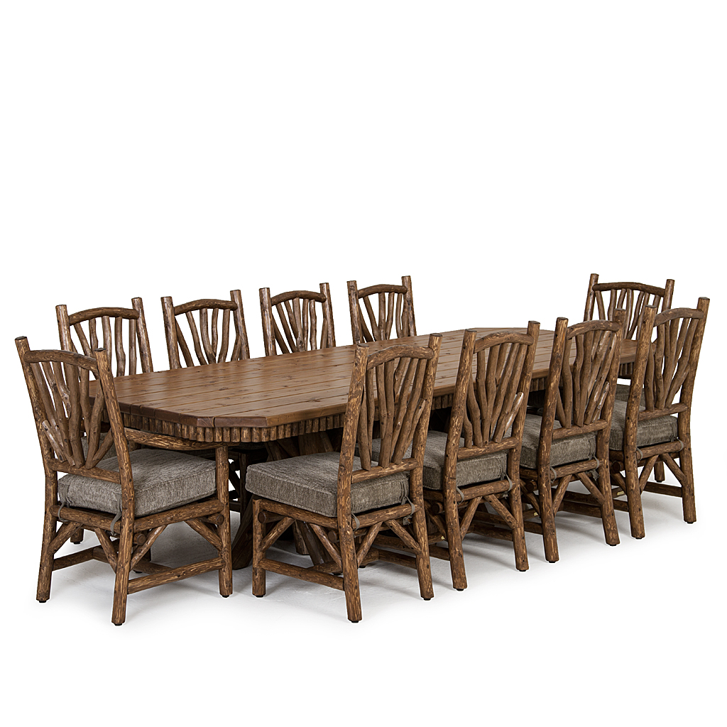 Rustic Dining Table 3482 W Opt Cedar Plank Top Chairs 1400