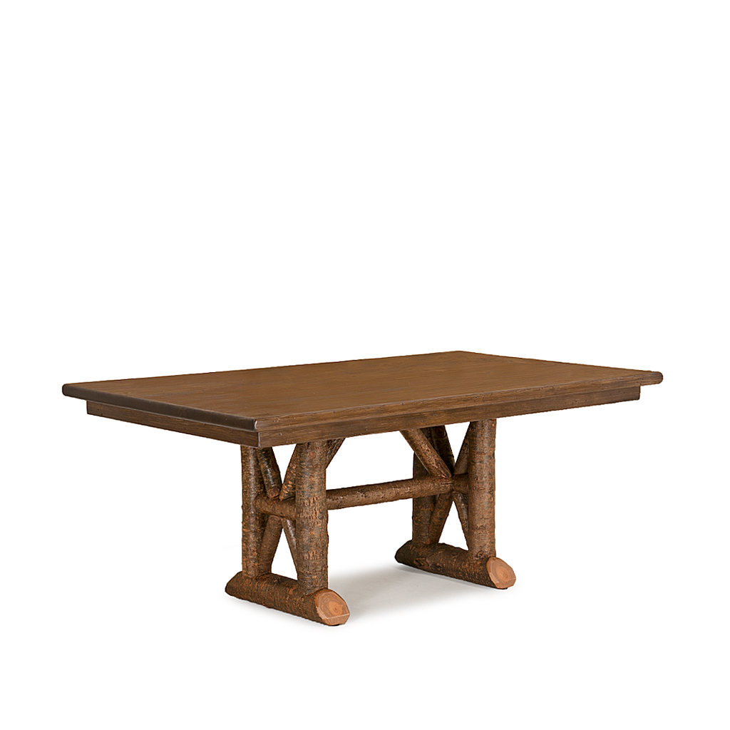 Rustic Trestle Dining Table 3490   3496